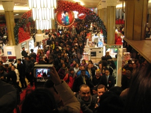 Black Friday shopping at midnight at Macy's