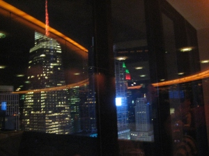 My best night in the city. The View - NY's revolving restaurant over looking the city