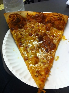 Greasy NY pizza