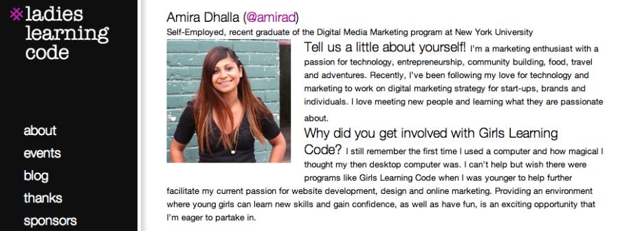 Girls Learning Code: Meet Your March Break Camp Mentors!