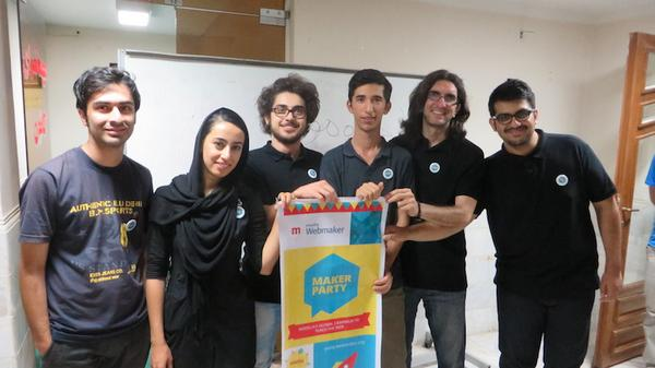 Event organizers of the first Maker Party in Iran